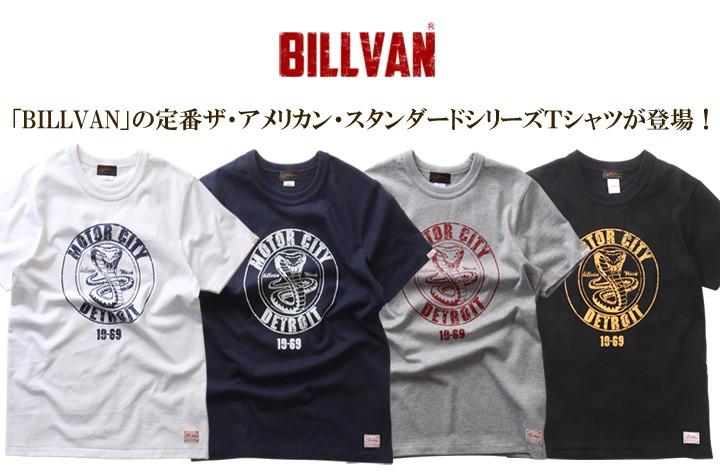 Tシャツ BILLVANアメリカンスタンダード/DETROIT/プリントTシャツ/28134