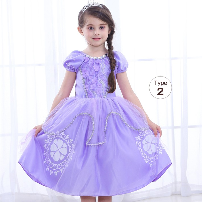 bc13464f73522 プリンセス ドレス 子供 ソフィア風 ラプンツェル風 可愛い コスプレ ...