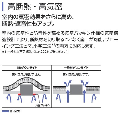 高気密SB形のため断熱・遮音施工に最適