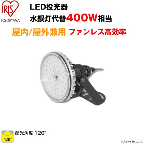 LED投光器 400W相当 屋内屋外兼用ファンレス高効率タイプ120