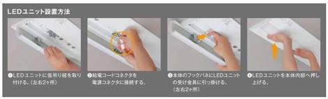 LEDユニット設置方法