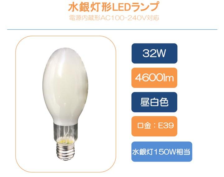 水銀灯150W相当代替で大幅節電!