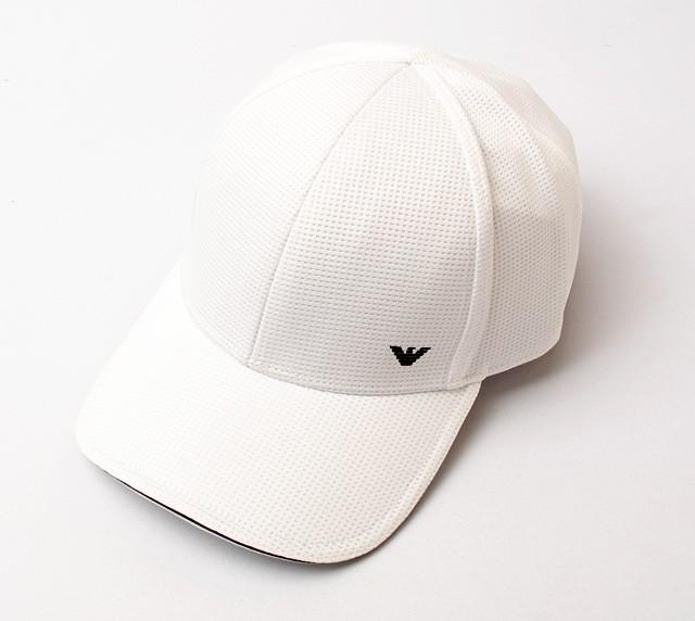 finest selection 5d380 5fc78 エンポリオアルマーニ キャップ/帽子 EMPORIO ARMANI メンズ ベースボールキャップ メッシュ/ホワイト 627787 7P503  00010