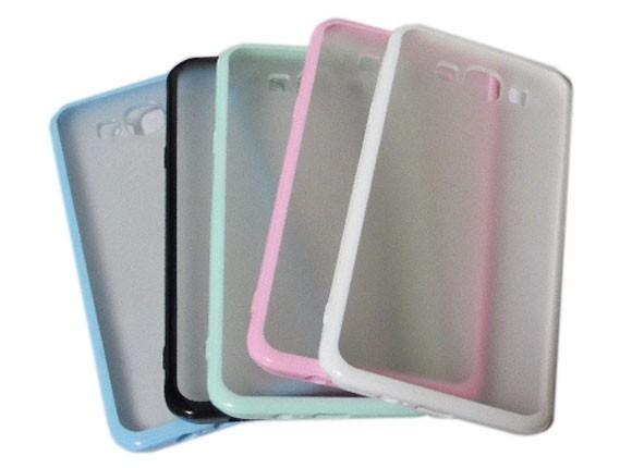 Galaxy A8 ギャラクシー SAMSUNG サムスン AU エーユー  ジャケット 半透明 クリア ポリカボネート PC ハードタイプ ケース カバー ホワイト
