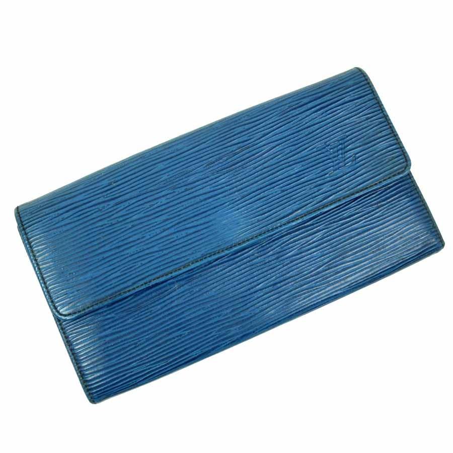 meet c6963 d81f7 ルイヴィトン Louis Vuitton 長財布 エピ ポルトフォイユサラ (旧) エピレザー ブルー 定番人気