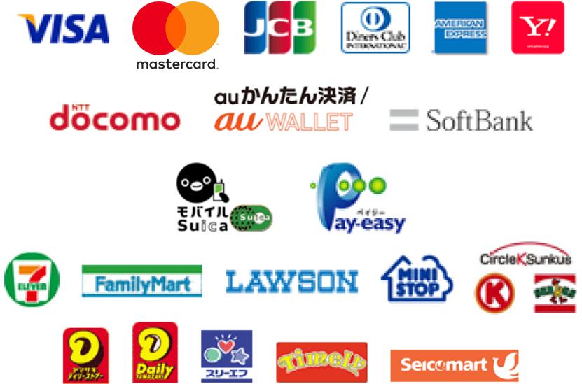 高匠Yahoo!店では銀行振込、クレジットカード払い、コンビニ前払い、携帯払い、電子マネーでのお支払方法をご利用いただけます(代金引換不可)。