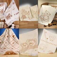 選べるオーガニックコットン ベビー綿毛布