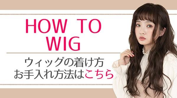 ウィッグの着用方法