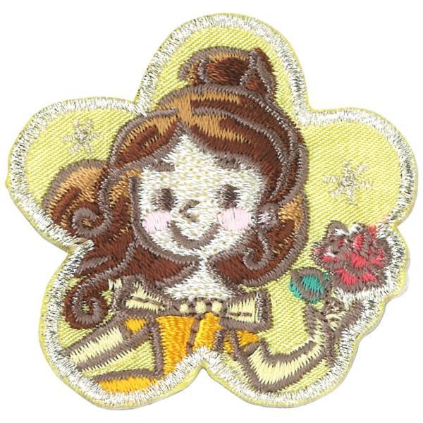 ワッペン ディズニープリンセス ポップ 中 ディズニー アイロン シール 2way 刺繍 キャラクター マーク プレゼント 服|broderie01|16