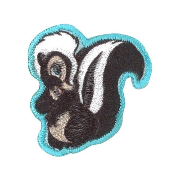 ワッペン ミニワッペン スティッチ バンビ ディズニー アイロン シール かわいい 刺繍 キャラクター グッズ プレゼント 服|broderie01|24