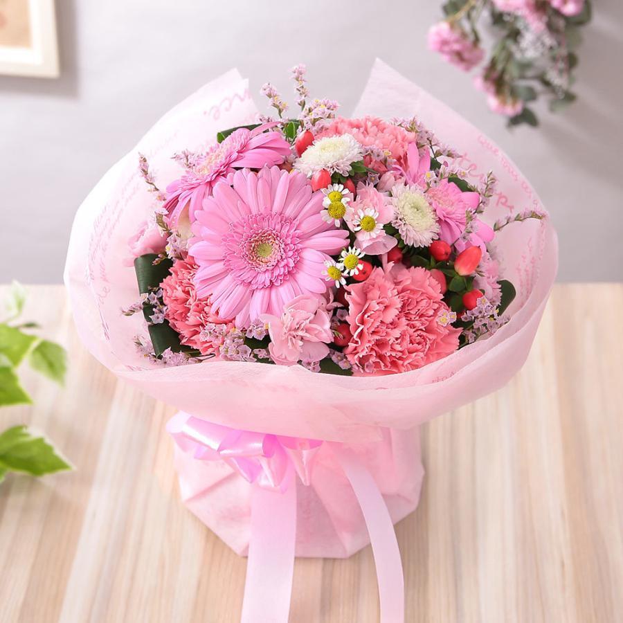 【誕生日プレゼント ギフト 女性 花 バラ ユリ】おまかせアレンジメント Sサイズ bunbunbee 23