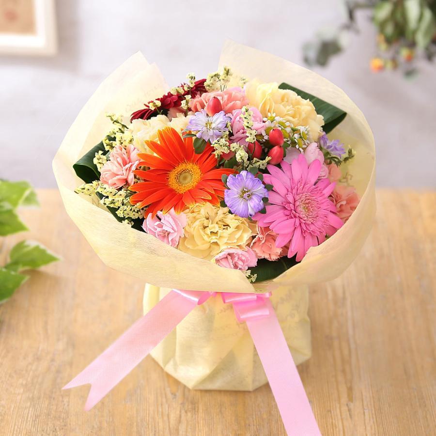 【誕生日プレゼント ギフト 女性 花 バラ ユリ】おまかせアレンジメント Sサイズ bunbunbee 27