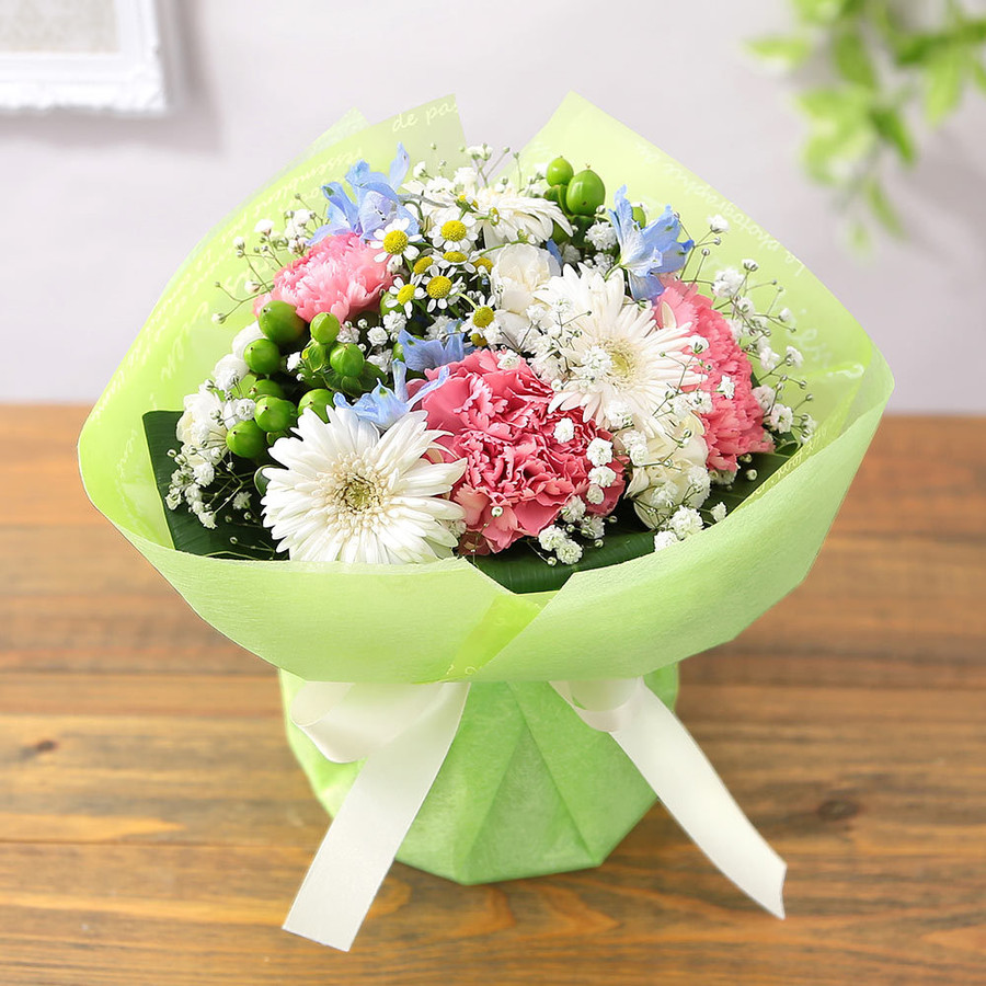 【誕生日プレゼント ギフト 女性 花 バラ ユリ】おまかせアレンジメント Sサイズ bunbunbee 29
