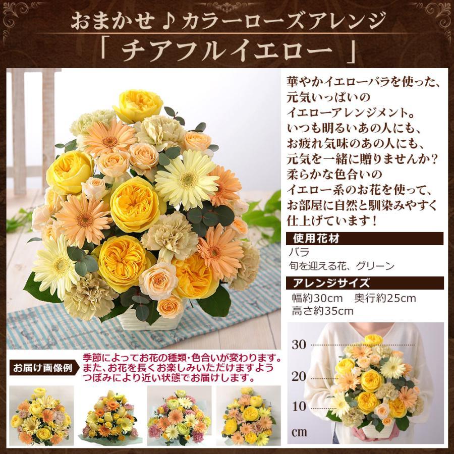 【誕生日プレゼント ギフト 女性 花 バラ ユリ】おまかせアレンジメント Mサイズ|bunbunbee|27