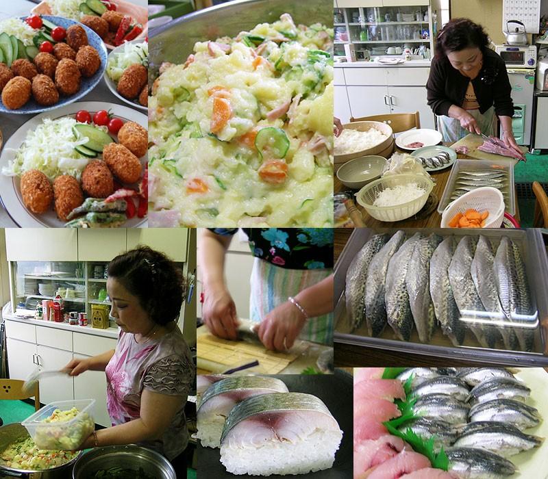 ポテトサラダや新鮮な魚を使ったお料理も絶品!