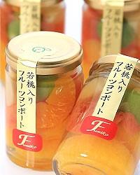 お洒落で美味しい!若桃入フルーツコンポートミックス