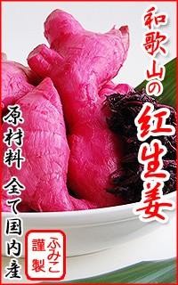 紀州ふみこ農園の手作り 和歌山の紅生姜!原材料全て国産