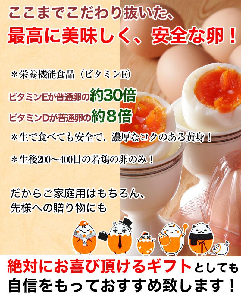 こだわり抜いた、最高に美味しく安全なこだわり卵です。