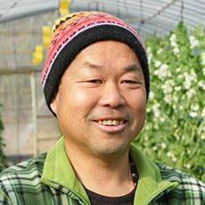 えんどう豆作り一筋、濱田さん