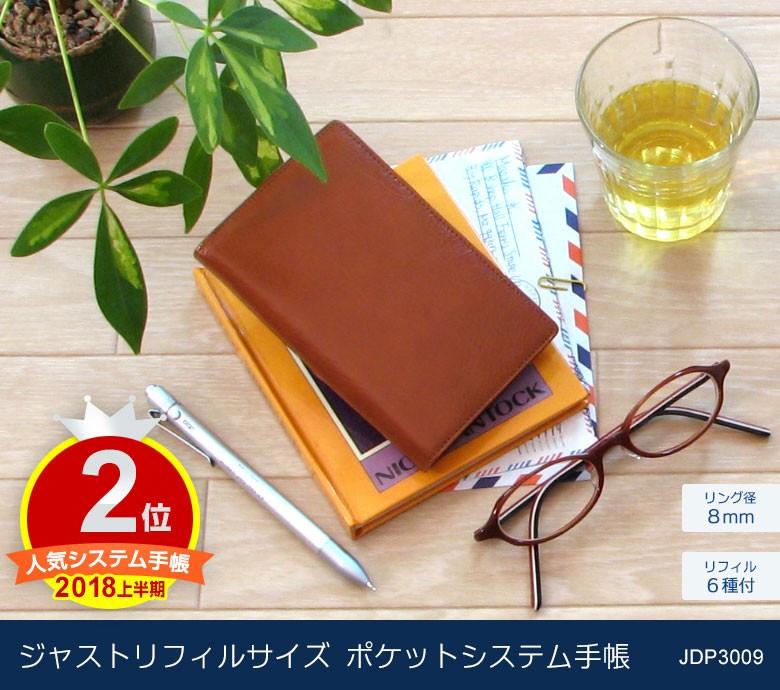 ジャストリフィルサイズポケットシステム手帳JDP3009