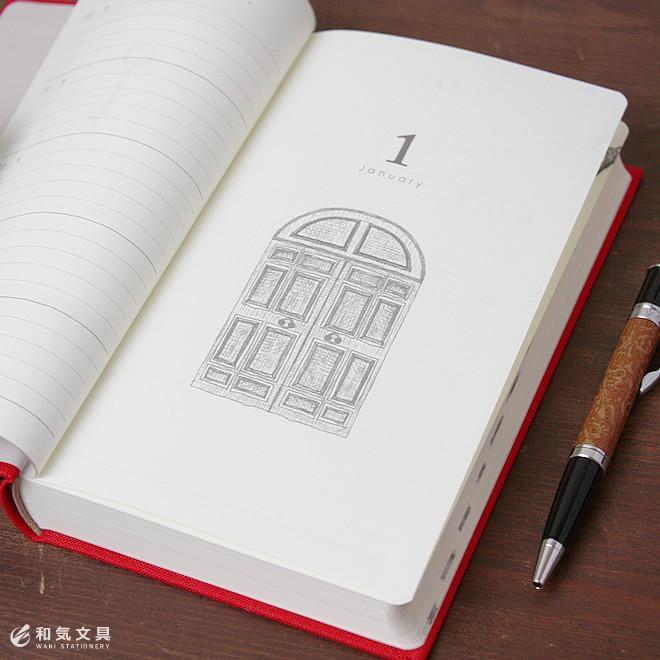 扉の絵柄がデザイン