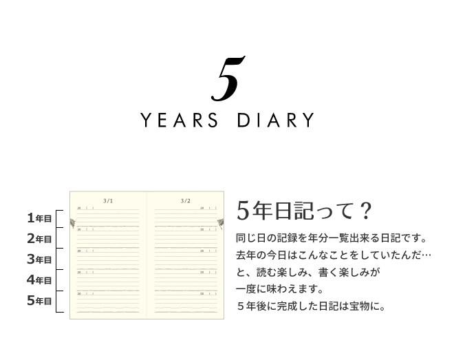 5年日記って?