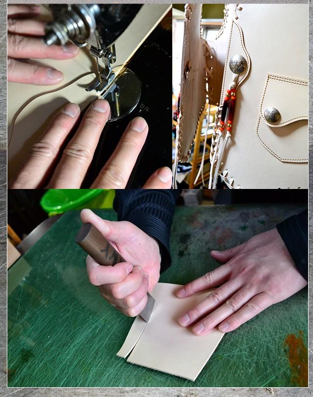 BIKERS BURNYのレザー・革製品は完全に職人のハンドメイド