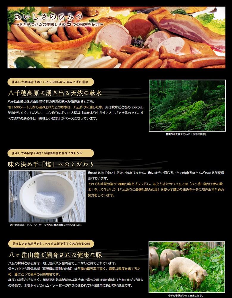 きたやつハム 商品紹介1