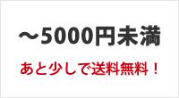 〜5000円未満の商品。あと少しで送料無料!