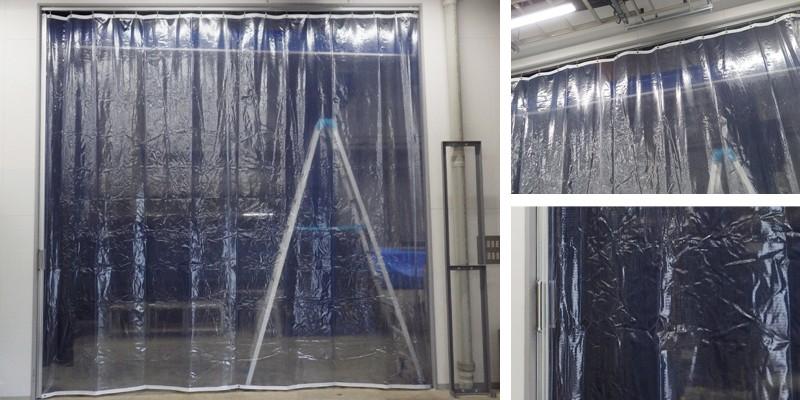 ビニールカーテン 工場 の施工例 施工実績 画像