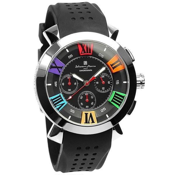エントリーでP5倍 サルバトーレマーラ 腕時計 メンズ クロノグラフ 立体 限定モデル ラバー ブランド 流行 人気  10気圧防水 ギフト|cameron|17