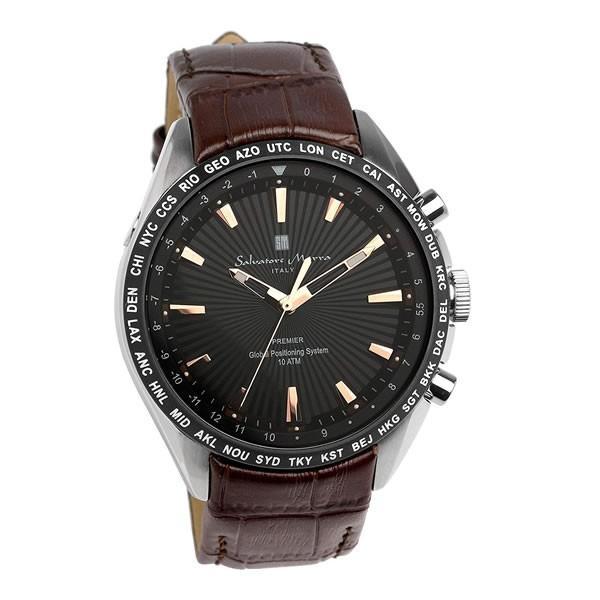 エントリーでP5倍 サルバトーレマーラ GPS 衛星電波時計 電波 腕時計 メンズ ブランド 限定モデル SM17118 cameron 20