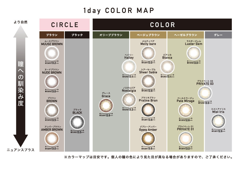 ReVIA 1day COLOR MAP