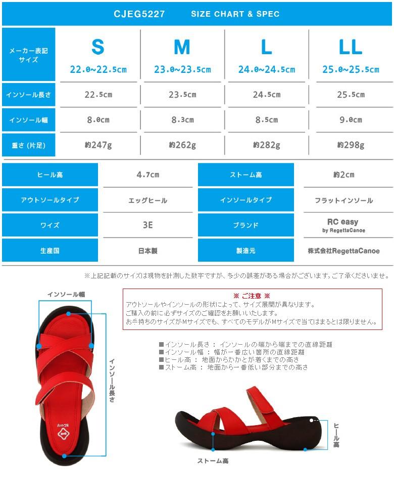 RC easy/CJEG5227/サイズ表