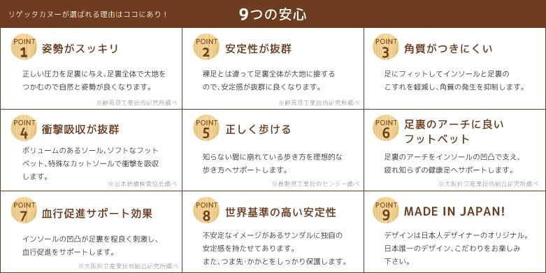 カヌーサンダル/9つの安心