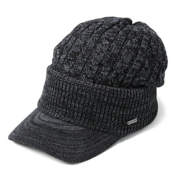 帽子 メンズ レディース ニット帽 つば付き ケーブル編み | キャバレロ Caballero (YP)|caponspotz|28