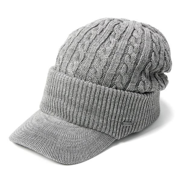 帽子 メンズ レディース ニット帽 つば付き ケーブル編み | キャバレロ Caballero (YP)|caponspotz|22