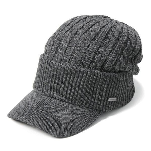帽子 メンズ レディース ニット帽 つば付き ケーブル編み | キャバレロ Caballero (YP)|caponspotz|23