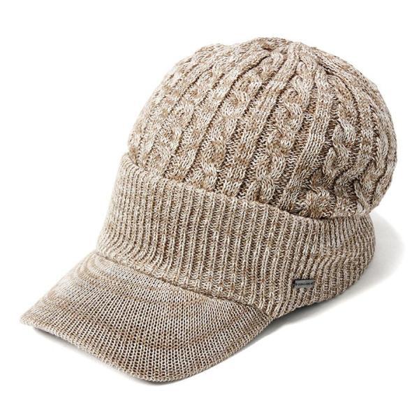 帽子 メンズ レディース ニット帽 つば付き ケーブル編み | キャバレロ Caballero (YP)|caponspotz|32