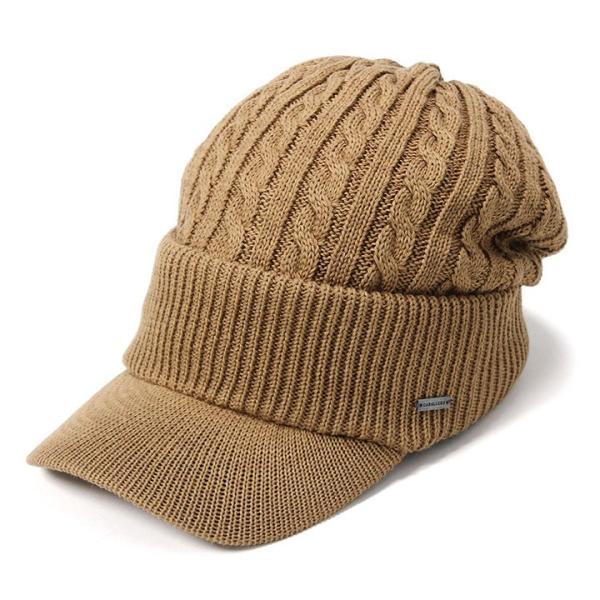 帽子 メンズ レディース ニット帽 つば付き ケーブル編み | キャバレロ Caballero (YP)|caponspotz|25