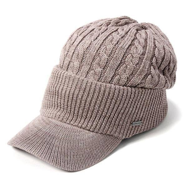帽子 メンズ レディース ニット帽 つば付き ケーブル編み | キャバレロ Caballero (YP)|caponspotz|24