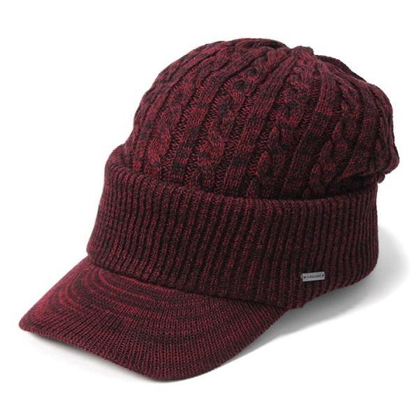 帽子 メンズ レディース ニット帽 つば付き ケーブル編み | キャバレロ Caballero (YP)|caponspotz|33