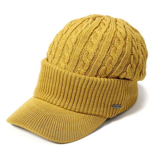 帽子 メンズ レディース ニット帽 つば付き ケーブル編み | キャバレロ Caballero (YP)|caponspotz|26