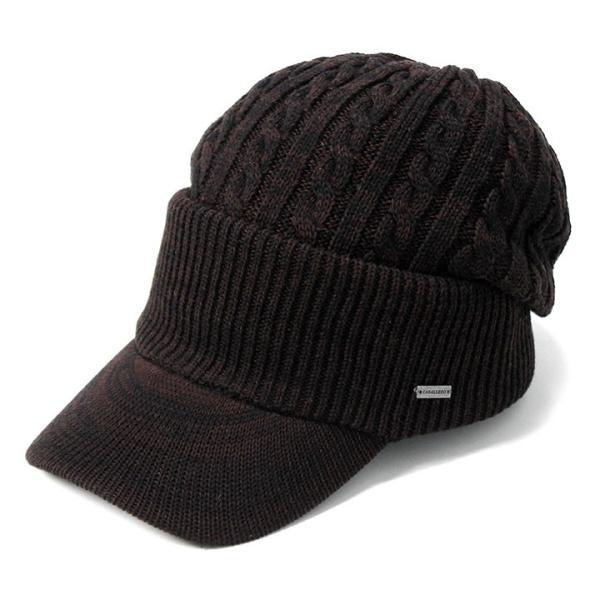 帽子 メンズ レディース ニット帽 つば付き ケーブル編み | キャバレロ Caballero (YP)|caponspotz|31