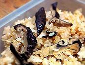 干し椎茸の簡単炊き込みご飯