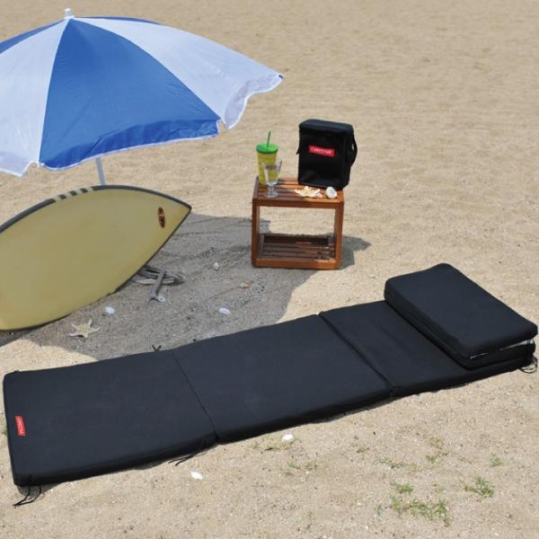 ビーチマット ベッド 防水 カナロア ブラック ウェットスーツ素材 ビーチ アルミ 海水浴 シルバー レジャーシート 洗える キャンプ プール 車中泊 CARESTAR|carestar-shop|15