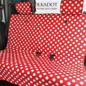 シートカバー ポルカドット 水玉 エプロンタイプ 軽自動車 全席セット z-style|carestar|07