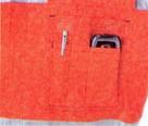 反射材つき長袖つなぎ#7600 胸ポケット