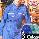 Auto-Bi印長袖つなぎ #3850