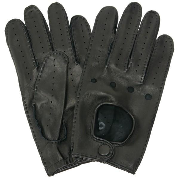 ドライビンググローブ 本革 革手袋 メンズ Men's 防寒 バイク 薄い イタリア製 羊革 レザー S M 皮 長指 フルフィンガー|carron|07